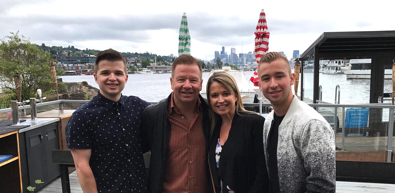 Randy and Raye-Lynn Jassman Family By Water